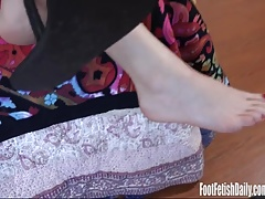 Alison Rey Dangles her sexy soles and cute little toes
