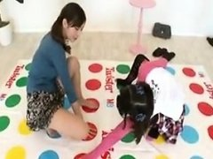 Two adorable Asian babes change clothes and reveal their sw
