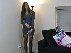 Antonia wears Cinderella tights