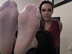 Sasha Foxx office feet