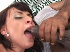 Black cocks and a squirting slut have an interracial threesome