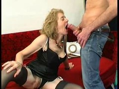 Gaping Backdoor Granny in Stockings Gets down and dirty Three