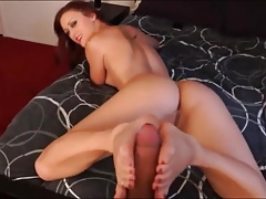 Guy gets his first Footjob Ever