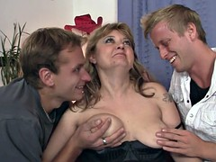Sexy mommy swallows cock and take it from behind