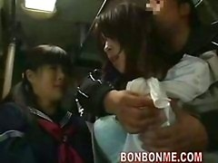 eager mom and her daughter fucked by geek on bus 02
