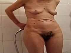 素人, 毛深い, シャワー, 一人, オッパイの