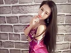 Girl with satin
