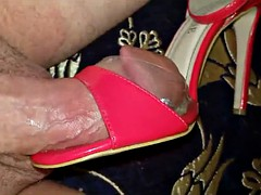 gift for a friend of his wife - red sandals Gang bang