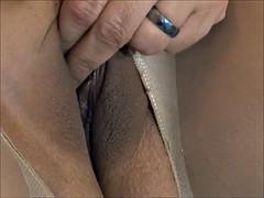 Crotchless Pantyhose Footjob and Cumshot