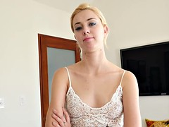 Hot stepsister lets her brother nail her skinny puss
