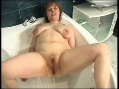 gorgeous chubby in the shower