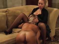 Leather And plus Lace: Lesbian Kiss After Pussy Licking Orgasm