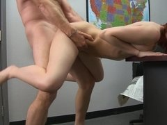 Teen redhead Alana Rains gets frisky with her teacher