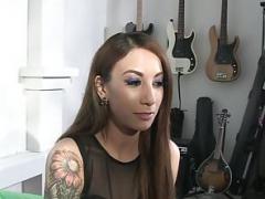 Inked bigtitted sweeties showing tattoos