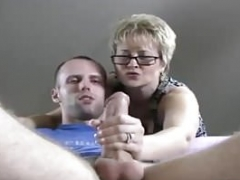 Point of view Lad Caught Up Stroking His Large Cock