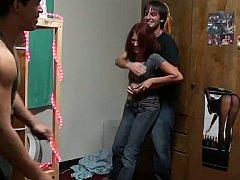 18, 素人, 大学生, 彼女, 小柄, 赤毛, ガリガリ, ティーン