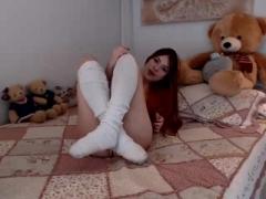 Masturbation, Rousse roux, Solo, Adolescente, Jouets, Webcam