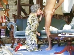 German Granny Can't Wait To Bang Young-looking Delivery Lad