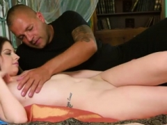 Nice-looking girl stretches spread hole and loses virginity86PgN