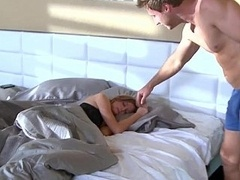 The Milf slept over and moreover he wanted to try