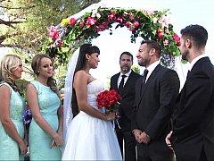 アメリカ人, ブロンド, 結婚, ヒール, キッチン, 結婚式