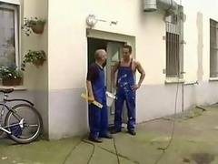Workers Double drilling Huge Breasts Housewife