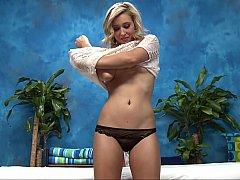 Blonde skinny masseuse Lily
