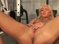 Blonde gal gets cummed on a lot