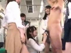 Far eastern schoolgirls train - Watch Part2 on link below