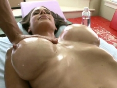 Gal rides on hunk's pecker after carnal massage