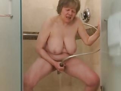 Witness this GILF get off in the shower