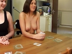Amber, Bex and furthermore Maisie play Strip High Inferior