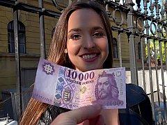 素人, ヨーロピアン, ハンガリー人, お金, ハメ撮り, 公共, オマンコ, 現実