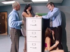 Hot women are doing some sexy fucking in the office