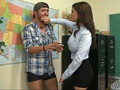 Américain, Gros seins, Brunette brune, Mature, Mère que j'aimerais baiser, Bureau, Jarretelles, Professeur