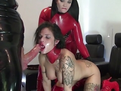 Latex fetish porn, kinky latex dommes and subs in free vids
