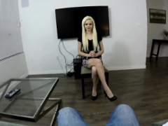 This charming little blonde would make a ideal secretary or a