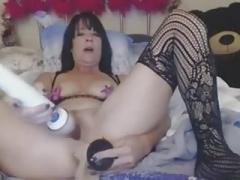 Kinky Granny Backdoor And plus Pussy Masturbation