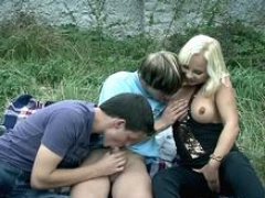 Whore fucked by bisex dudes
