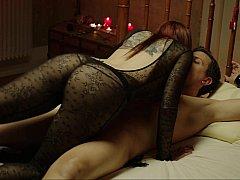 Спальня, Парочка, Секс без цензуры, Рыжие, Связанные