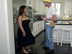 Американки, Большие сиськи, Минет, Грудастые, На кухне, Сиськи
