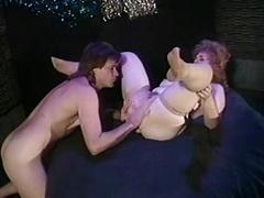 Adult bbw Jennie Joyce striptease get down and dirty