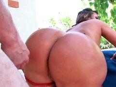 Big ass Latina is sucking dick wanting to get banged