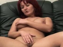 Big-breasted redhead sexually available mom riding amputee throbbing boner