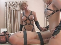 Femdom goddess Brianna and also Her Friend Punish slave