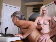 Hot eager mom threesome and sticky creampie