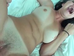 Dillion Harper having anal sex and getting fed with sperm