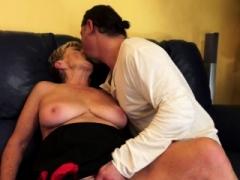 Saggy grandma gets her bushy pussy banged
