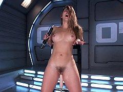 Horny Dani Daniels machines sex & varied toys
