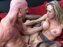 Blonde lady with big tits is getting fucked by a medic today